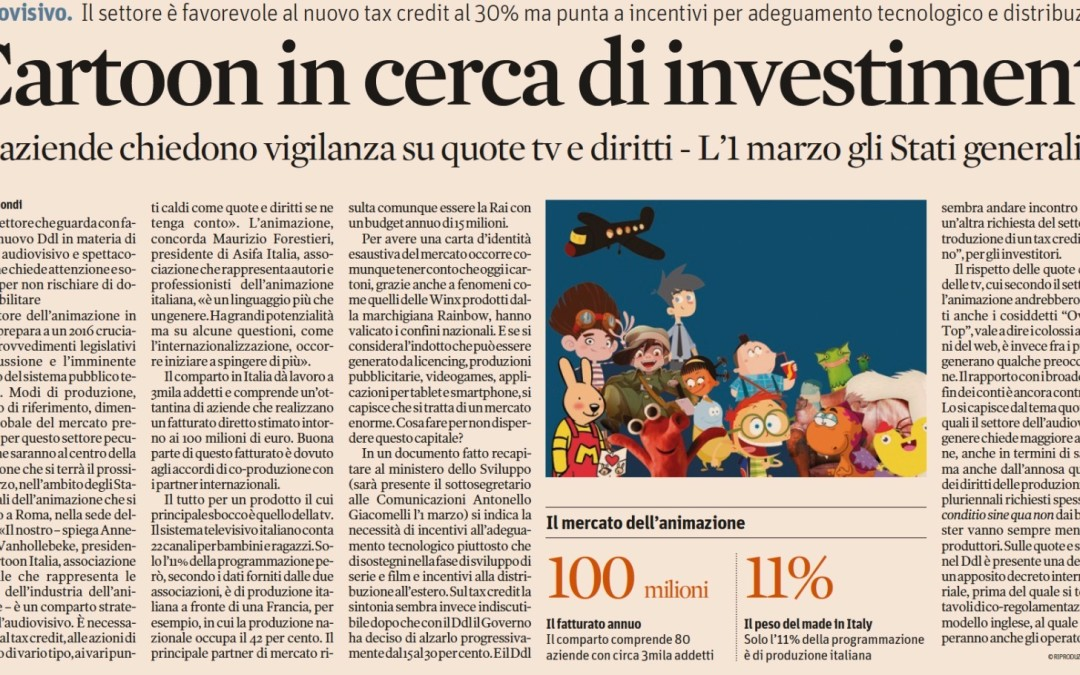 Cartoon in cerca di investimenti